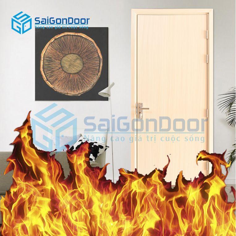 Cửa nhựa chậm cháy cửa nhựa Composite